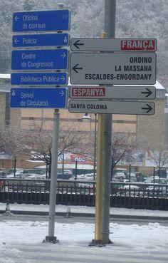 Street sign - Andorra la Vella, Andorra