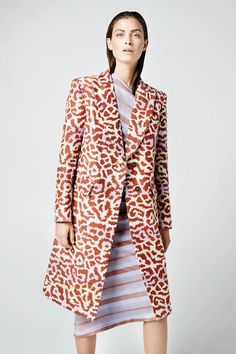 Peaked Lapel Overcoat in Lavender Leopard by Smythe exclusive at The – The Shoe Hive Strong Shoulders, Ulla Johnson, Latest Trends, Dressing, Menswear, Coat, How To Wear, Clothes, Metallic