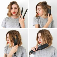Messy Bob Hairstyles For Your Trendy Casual Looks - Messy Bob Hairstyles Are Super Chic Convenient Trendy And Easy To Style All You Need Is To Get A Flattering Bob Haircut And Select The Right Hair Product For Your Hair Type Naturally Wavy Hair Is Messy Hairstyles, Pretty Hairstyles, Hairstyle Short, Bob Hairstyles How To Style, Hairstyles Haircuts, Curled Bob Hairstyle, Curling Iron Hairstyles, Wave Hairstyles, Oval Face Hairstyles