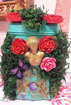 Venus Love Garden Temple~Magick Altar Box Shrine,Home decor,Art,Altar,wiccan,pagan,tarot,ritual,Fantasy Trinket Curiosity box gift