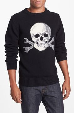 Deus Ex Machina  Tapestry Skull  Wool   Cashmere Crewneck Sweater from  Nordstrom on shop 95b716ee31