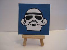 Cupcake Painting - Star Wars Stormtrooper. $8.00, via Etsy.