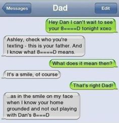 9 Text Message Mishaps by Dad: Shhh, I'm About to F-ck Your Sister!