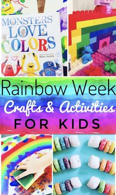 Rainbow Crafts & Activities for Kids - Bright and Colorful projects for kids of all ages. Perfect for spring break or summer camp!