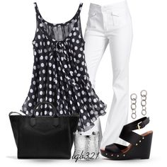 """""""polka dot top"""" by lgb321 on Polyvore"""