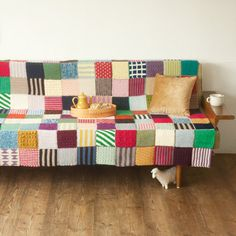 hand knitted sofa cover