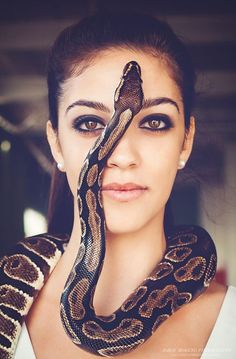 """Hot Artistic Photo Model Is Stunning Posing with Snake 4 x 6/"""""""