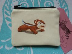 Handmade Card Coin Purse Squirrel Chipmunk Woodland Animals Cosmetic Pouch in Clothes, Shoes & Accessories, Women's Accessories, Purses & Wallets | eBay