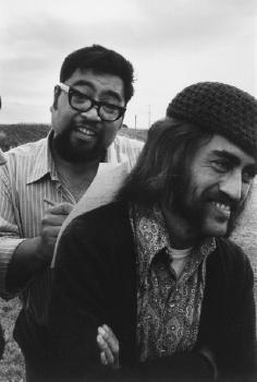 Te Kaha-nui-a-tiki marae, Te Kaha. Buck Nin and Wiremu Henare. June 1973