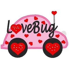 Lovebug Applique - 3 Sizes! | Words and Phrases | Machine Embroidery Designs | SWAKembroidery.com Band to Bow
