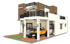 House Plan Designer and Builder - House Designer and Builder House Window Design, House Roof Design, Two Story House Design, Modern Small House Design, Flat Roof House, 2 Storey House Design, Simple House Design, Bungalow House Design, House Design Photos