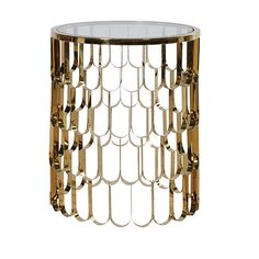 The Round Glass/Golden End Table from CH Furniture is an incredible metal table that provides ample space upon for serving drinks and snacks on. CH Furniture Round Glass/Golden End Table Glass Side Tables, End Tables, Coffee Tables, Contemporary Style Homes, Contemporary Furniture, Grand Designs Magazine, Art Nouveau Furniture, Furniture Styles, Furniture Ideas