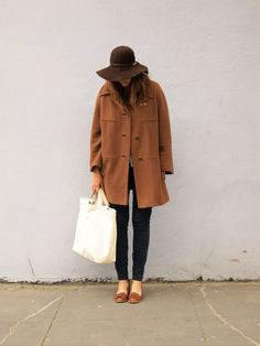 I am wild about this silhouette, and this color of mid-brown. With black pants and brown shoes? Uniform!