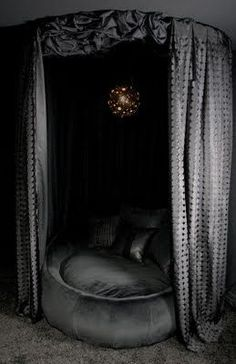 Dark. I love this. Looks so comfy