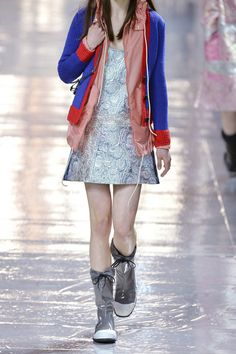 Miu Miu - Two-tone wool cardigan Cashmere Cardigan, Wool Cardigan, Victoria Beckham, Miu Miu, Royal Blue, Slim, Skirts, Red, How To Wear