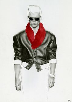 Richard Kilroy Fashion Illustrations Versace Leather Personal Collection 2012 UK, Drawings