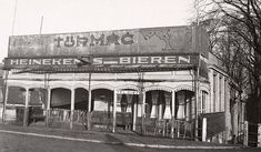 1932. A view of the façade of Café-Restaurant Schollenbrug at the Ringdijk seen from the Weesperzijde in Amsterdam. On the right the entrance to Visscherspad. Café-restaurant had a large children's playground with a small petting zoo where children could play. Schollenbrug and the playground were demolished in the early 1930's to make room for the Berlagebrug. Photo Stadsarchief Amsterdam / J. van Eck. #amsterdam #1932 #Ringdijk #CaféSchollenbrug