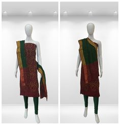 Mesmerizing Maroon and Gorgeous Green colored Bandhani Dress. A small bandhani dot floral patterns made with handicraft tie and dye technique . Small Mirror work enhances the beauty of dual colored beautiful Bandhani Dupatta.  Ocassion: Casual/party/office wear  Shop online: http://www.sankalpbandhej.com/  For more pics & details / collaboration call/whatsapp: 91-9377399299  #sankalpthebandhejshoppe #bandhanidresses #dressmaterial #sankalpbandhej