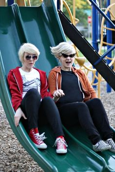 Homestuck Dirk and Dave Strider cosplay