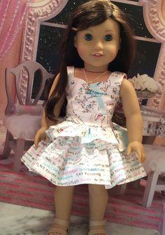 American Girl Doll Clothes-I Love Paris II Dress by gofancynancy
