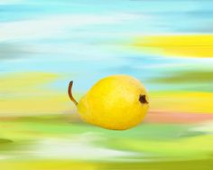 yellow pear by Grace Olsson