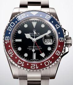 a4e1823178 Rolex Cerachrom Pepsi GMT bezel Ref 116719 via Perpetuelle Used Watches,  Fine Watches, Rolex