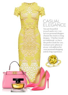 """#045 Midi Elegance"" by roohani ❤ liked on Polyvore featuring Thurley, Fendi, Christian Louboutin, Dolce&Gabbana and Ice"