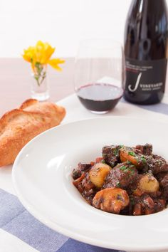 Boeuf Bourguignon recipe, along with my tips for making the best version of this comforting French stew. (Skip flour or sub tapioca) Veal Recipes, Cooking Recipes, Lorraine, Classic French Dishes, French Food, A Food, Food And Drink, Soups And Stews, Beef Bourguignon
