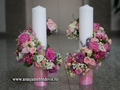 Lumanari nunta model stalp. Candels, Pillar Candles, Wedding Bouquets, Wedding Flowers, Point Lace, Handmade Candles, Geo, Flower Arrangements, Dream Wedding