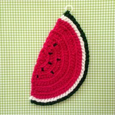 Brighten up your kitchen with these adorable handmade crocheted watermelon pot holders. It adds a sweet vintage charm to any kitchen.   M E A S U R E M E N T S - Measures 10 inches by 5 inches and has a ring so you can hang it on a hook - Comes in a set of 2 - Keep in mind that colors may vary depending on your monitor. - If you are looking for something specific, feel free to shoot me a message and Id be happy to make a custom order! - Each Soli Knits scarf was handmade by me (Soli) in the…