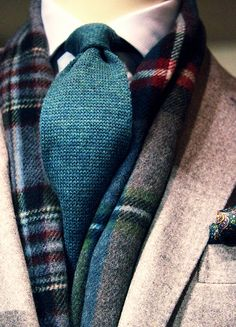 Layer & Patterns Tweed and Knit tie