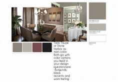 dining room color scheme warm taupe grays