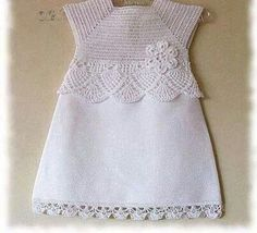 61 New Ideas Crochet Baby Clothes Patterns Fabrics Crochet Toddler Dress, Crochet Dress Girl, Crochet Girls, Crochet Baby Clothes, Crochet Baby Hats, Crochet For Kids, Crochet Top, Crochet Children, Crochet Dresses