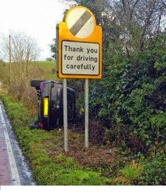 Oops drive carefully