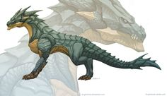 Dragon concept 2 by el-grimlock on DeviantArt - I really like, but I miss the wings.