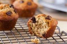 Banana Chocolate Chip Muffin - Moist & fluffy Banana Chocolate Chip Muffins. Made from overripe bananas, yogurt & chocolate chips. Perfect for breakfast, snack or dessert.