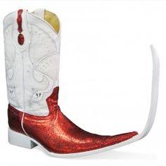 Jugo Boots® 4013 Botas Tribal Telaraña Rojo (20 cm)