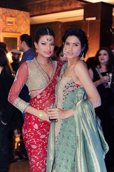 #Desi, #Indian_Wedding Beautiful outfits inspiration for a bride and her bridesmaids..