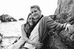 GARY + SHARON – ENGAGEMENT SHOOT on a beautiful rocky beach!  // Aaron and Jillian Photography - Charleston Wedding Photographer