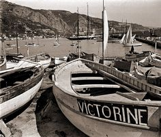 Port of Menton at the French Riviera in the 1930s.