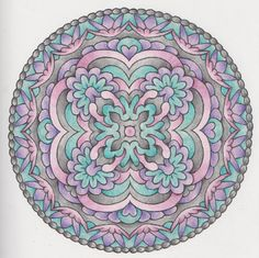 Magical Mandalas 013 done with pencils Creative Haven Coloring Books, Hamsa Hand, Coloring Pages, Decoupage, Zentangle, Rocks, Hands, Watercolor, Inspiration