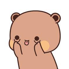 Cute Bunny Cartoon, Cute Cartoon Images, Cute Couple Cartoon, Cute Kawaii Animals, Cute Love Cartoons, Cute Cartoon Wallpapers, Cartoon Kiss Gif, Cartoon Gifs, Cute Baby Couple