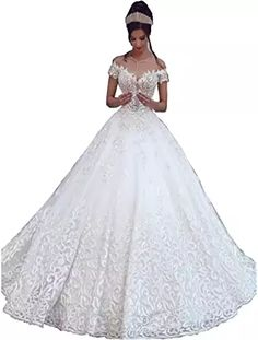 New Chady Sexy Off Shoulder Lace Ball Gown Wedding Dresses Bride 2018 Cap Sleeves Applique Sweep Train Backless Bridal Gowns online shopping - Topusshop Wedding Dresses 2018, Gown Wedding, Lace Ball Gowns, Women's Fashion Dresses, Bridal Gowns, Bride, Backless, Cap Sleeves, Applique