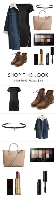 """""""Styling Leather Dress"""" by jessicaiskoolio ❤ liked on Polyvore featuring RtA, Carbon & Hyde, MANGO, Maybelline, Kevyn Aucoin and Bobbi Brown Cosmetics"""