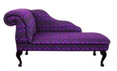fainting couch in purple