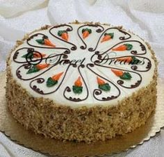 Example of carrot cake decoration