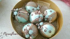 Decorated Christmas balls/balls green by Rosunflower on Etsy