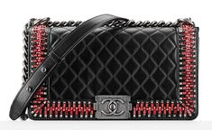 Chanel Embellished Boy Bag Black $10,800 Fall 2014