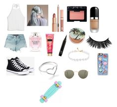 """""""What I would wear to ride my penny board"""" by jordyncyprian ❤ liked on Polyvore featuring T By Alexander Wang, Monki, Converse, Ray-Ban, Zero Gravity, Jordan Askill, Dolce Vita, NARS Cosmetics, Marc Jacobs and Urban Decay"""