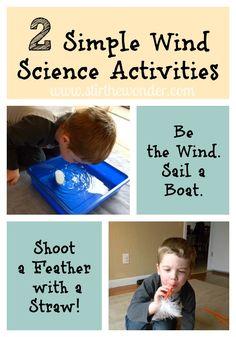 2 Simple Wind Science Activities {Saturday Science} | Stir the Wonder #kbn #preschool #saturdayscience